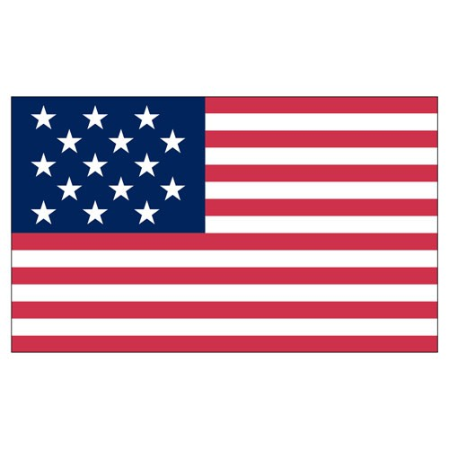 15-Star Spangled Banner 3ft x 5ft Printed Polyester flag