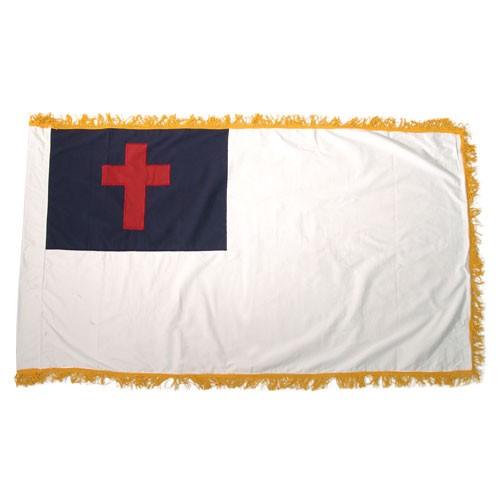 Christian Flag 3ft x 5ft Indoor with Fringe