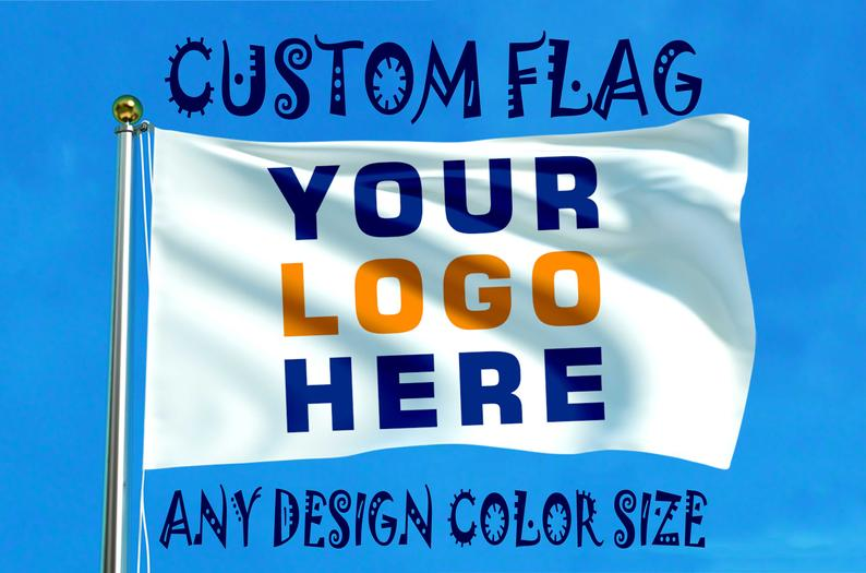 Custom Boat Satin Office Flags
