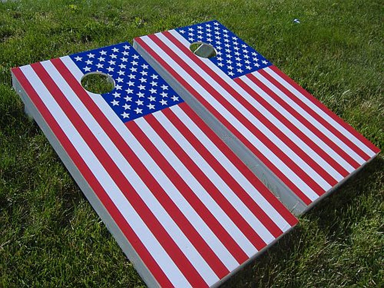 Custom Cornhole Bags Single Table Flag