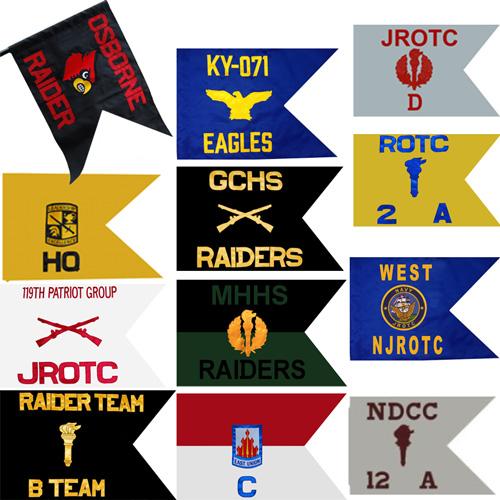 Custom Crest Triangle Flags and Pennants