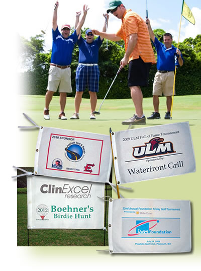 Custom Golf Triangle Flags and Pennants