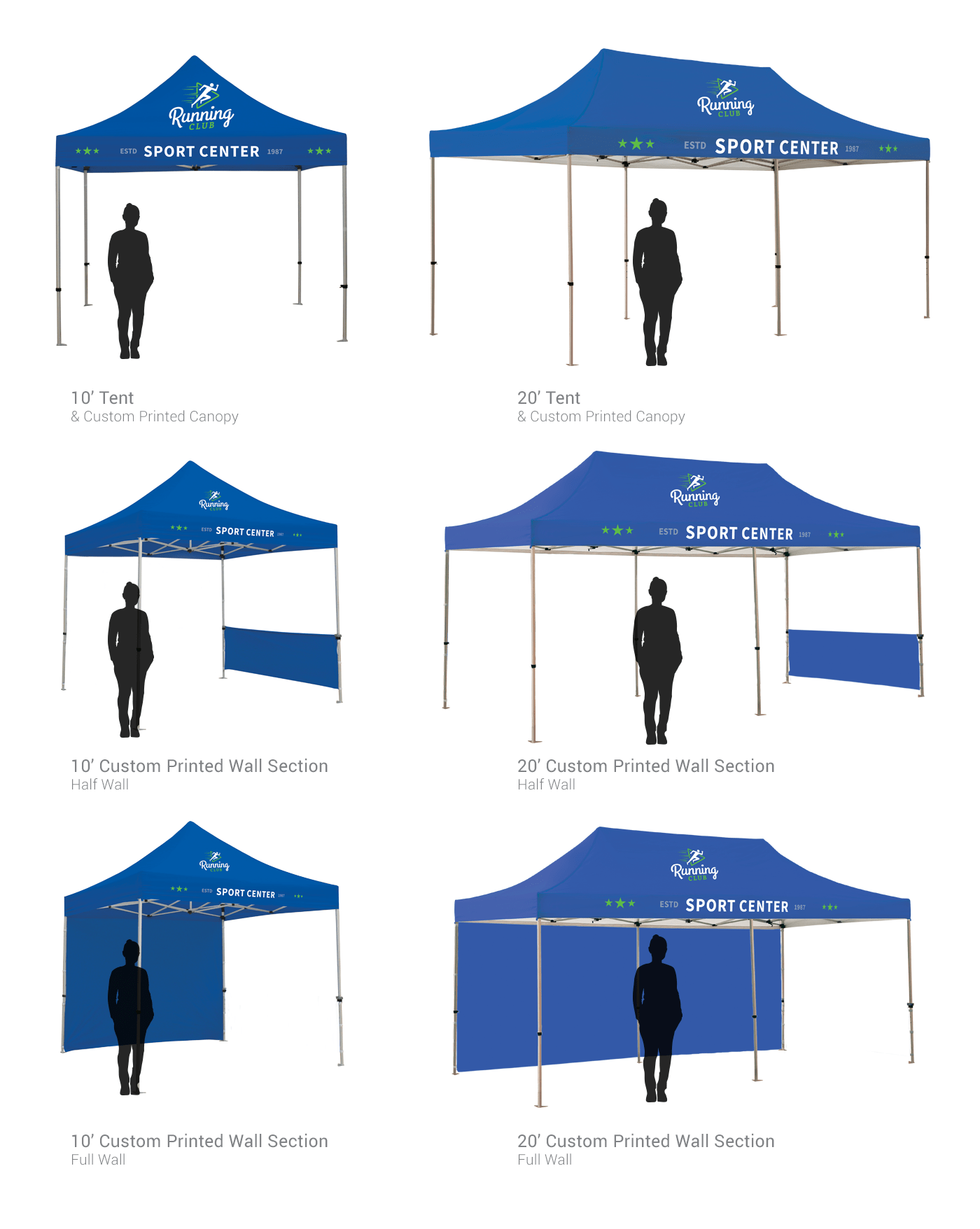 Custom Printed Tents Horizontal Streamers and Flags