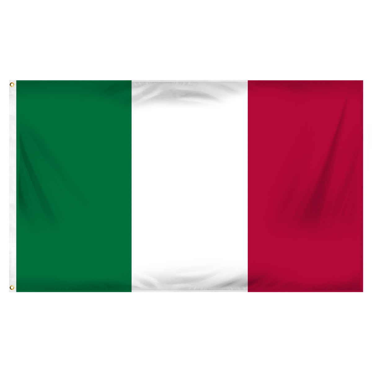 Italy Fringed Presentation Flags