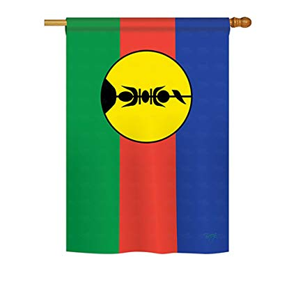 New Caledonia Satin Office Flags