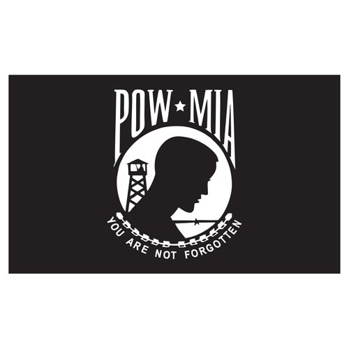 POW MIA 3ft x 5ft Printed Polyester Flag - Single Sided