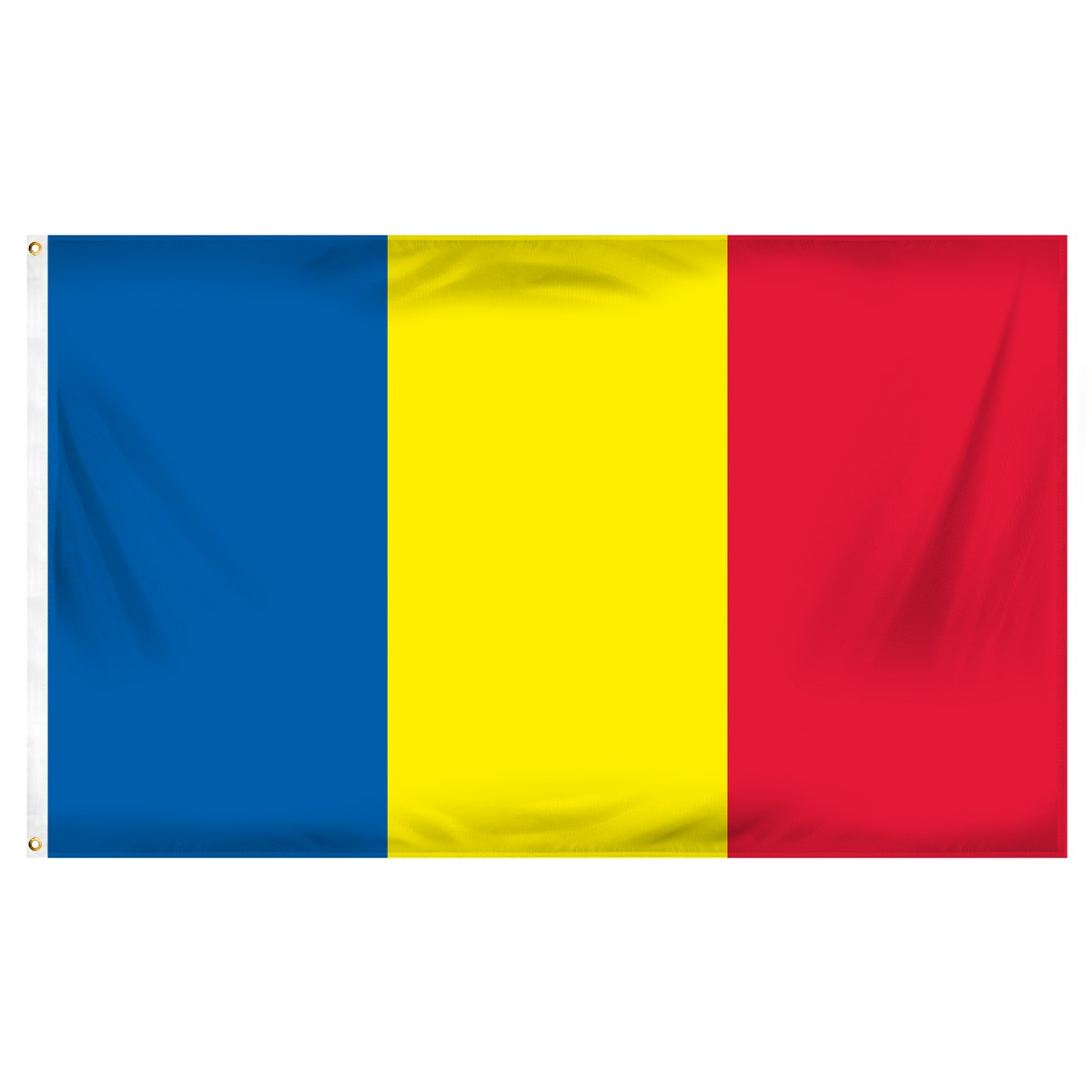 Romania Horizontal Streamers and Flags