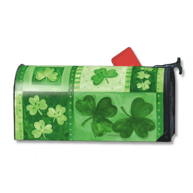 St Patricks Day Mailbox Cover - Shamrock Collage