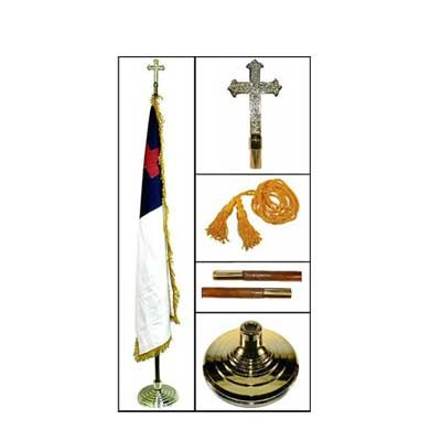 Super Tough Christian Indoor Flagpole Kit