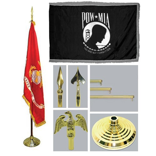 Super Tough POW/MIA 4ft x 6ft Flag, Telescoping Flagpole, Base, and Tassel