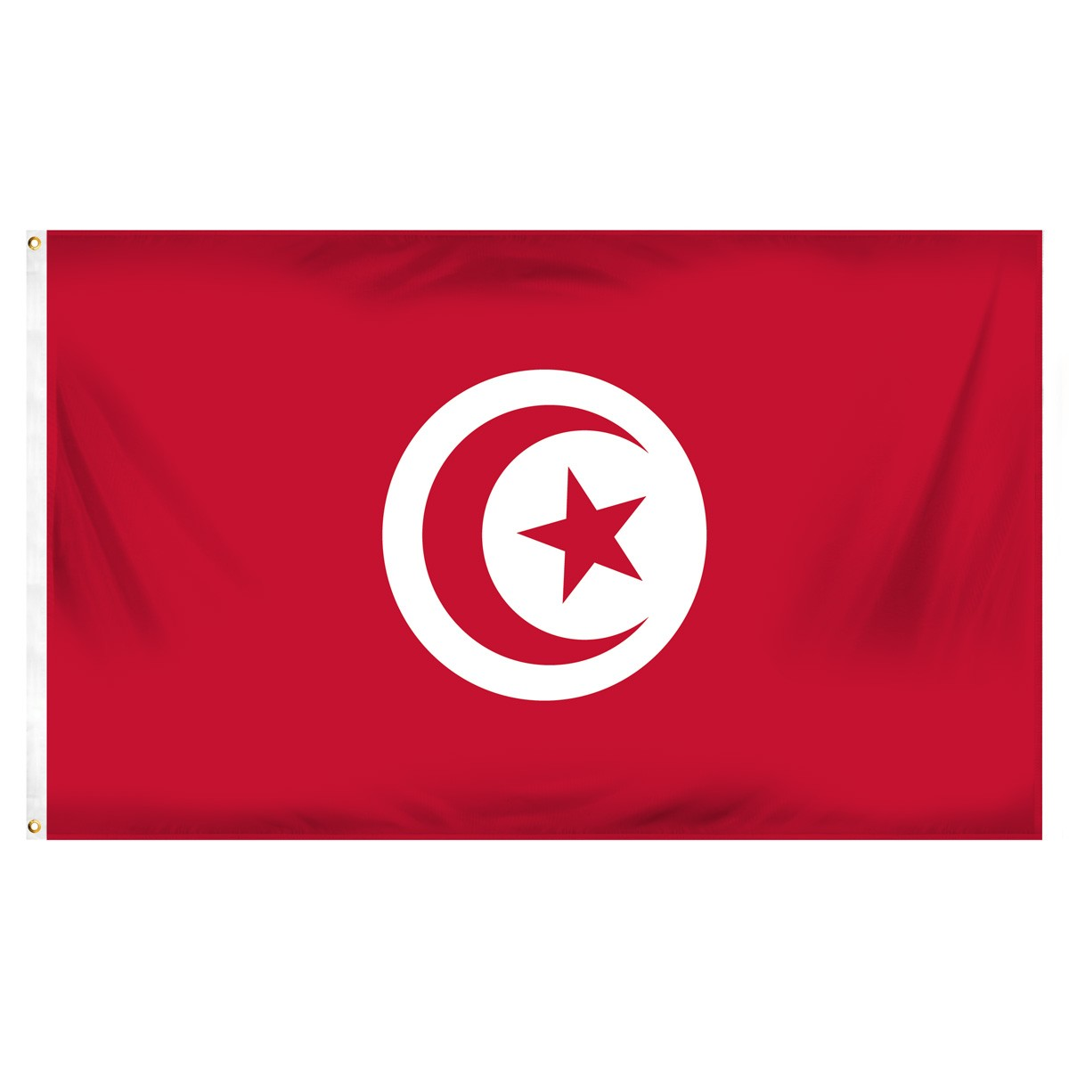 Tunisia Fringed Presentation Flags