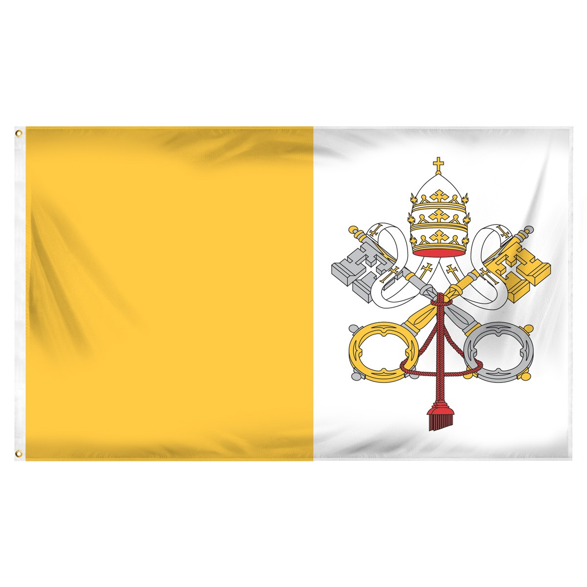 Vatican Fringed Presentation Flags
